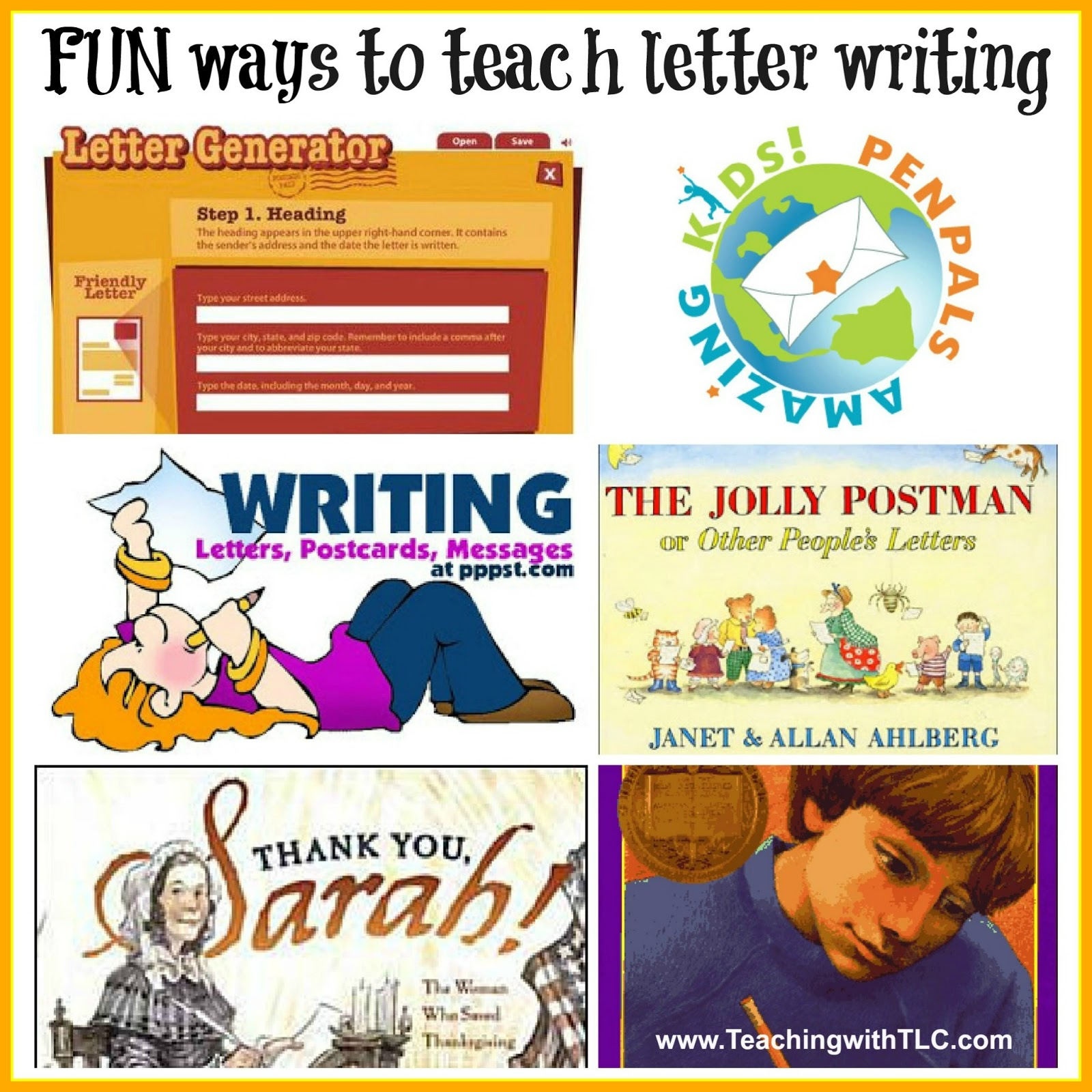 Teaching With Tlc Fun Ways To Teach Letter Writing