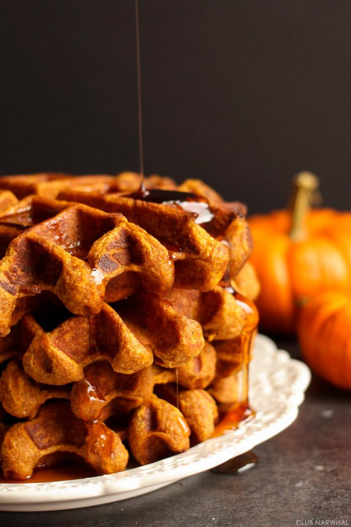 Pumpkin Belgian Waffles | Club Narwhal
