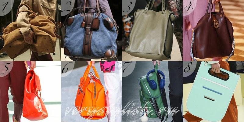 Spring Summer 2015 Men's Handbags Fashion Trends