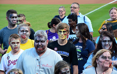 Zombie Night at Turner Field | On-field Zombie Parade