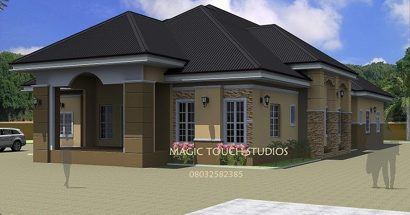 House plans and design architectural designs for 4 for Bedroom designs in nigeria