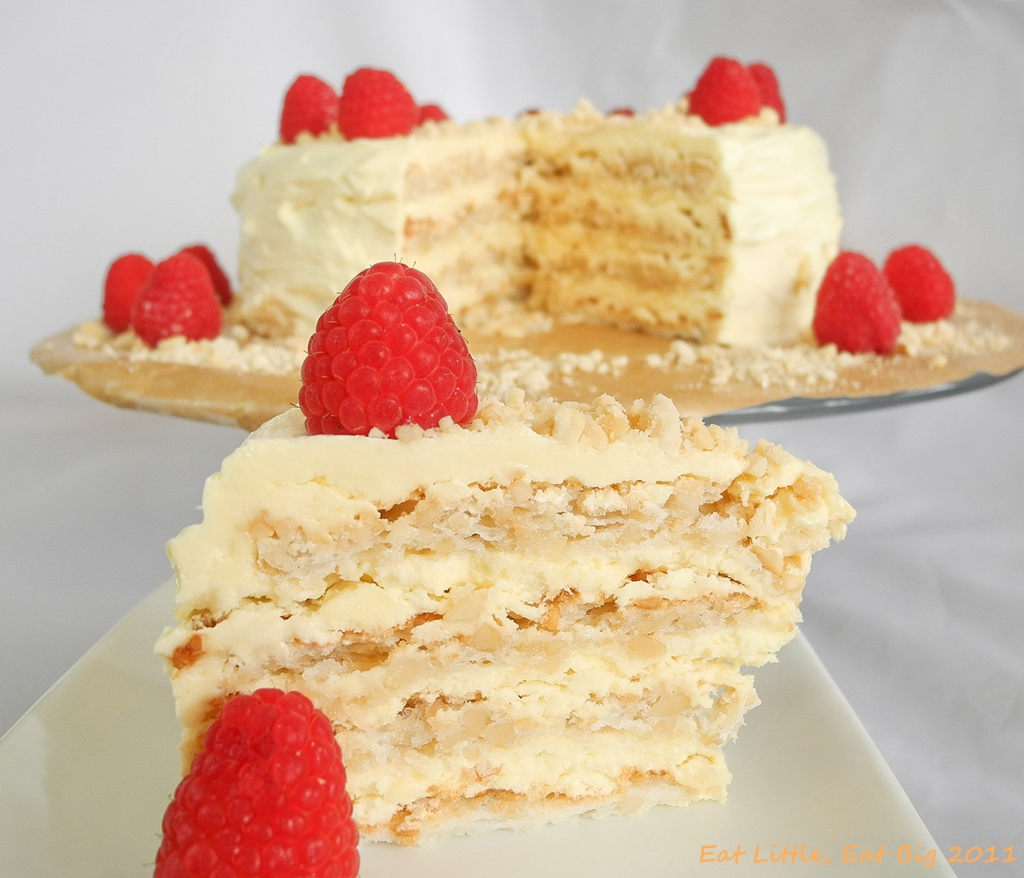 Recipe for Sans Rival Cake - Daring Bakers | Eat Little, Eat Big