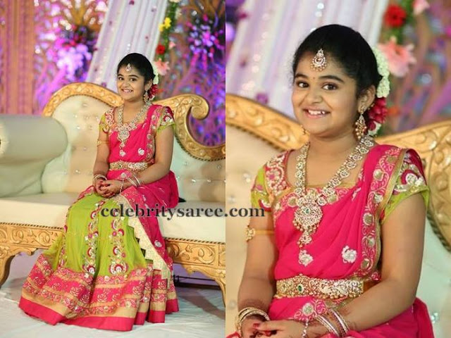 Pretty Girl in Sony Reddy Half Saree