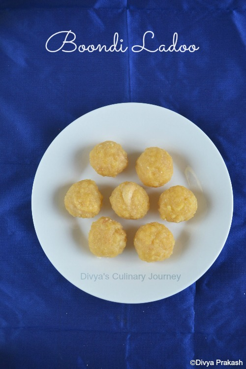 Traditional Boondi ladoo recipe
