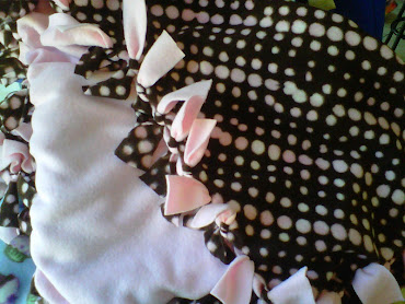 chocolate and pink dots with pink