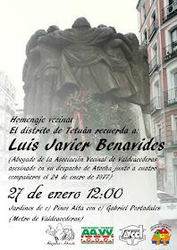 Homenaje a Luis Javier Benavides