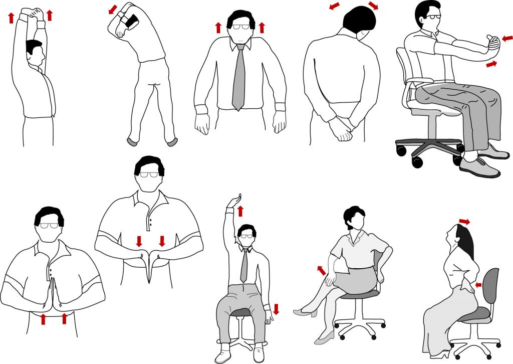 Office neck exercises kaiser