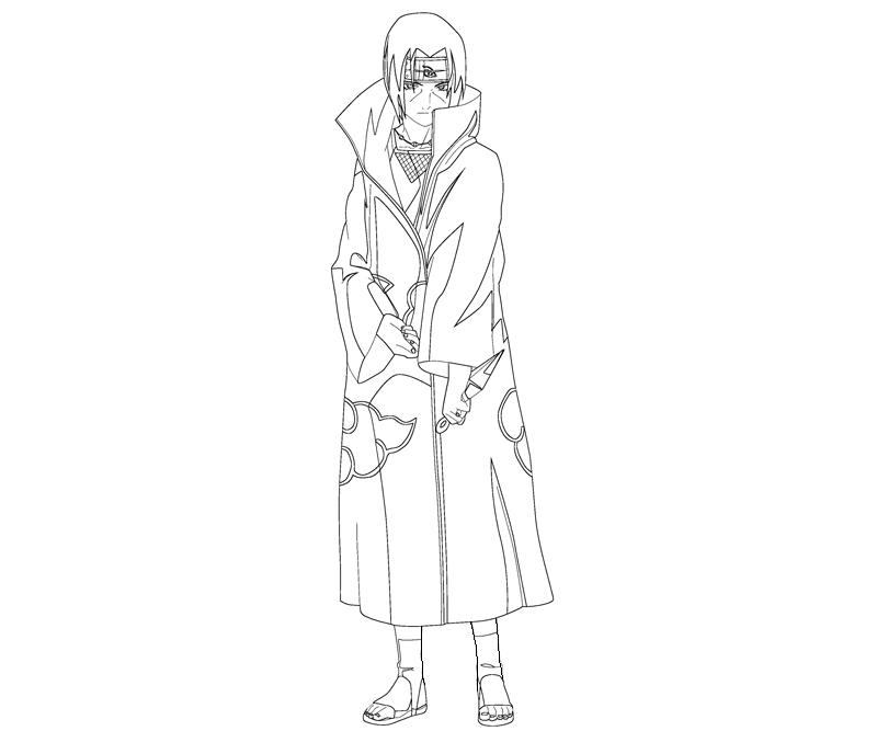 Itachi Uchiha 9 Coloring Crafty Teenager Itachi Coloring Pages