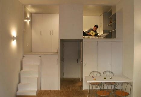 Desain Dan Denah Interior Rumah Mungil Yang Sederhana Dan Minimalis