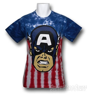 Click here to buy Captain America head shot tie dye t-shirt at SuperHeroStuff!