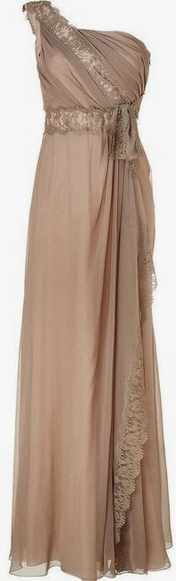 One Shoulder Camel Color Long Dress