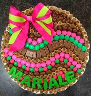 Tortas de pirulin chocolate dandy bolero dulces for Decoracion de tortas faciles
