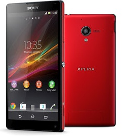 Sony Xperia ZL merah