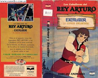 El Rey Arturo (Animé - 1979) Caja de cartón cortada