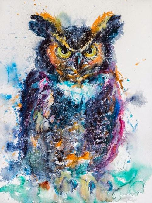 Anna Brigitta Kovács deviantart pinturas aquarelas animais cores