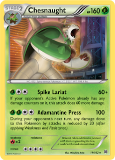 Chesnaught BREAKthrough Pokemon Card