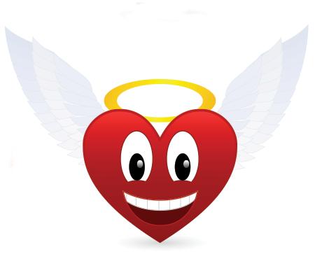 Angel heart emoticon