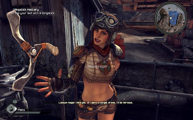 Loosum Hagar standing with her google helmet and her windstick