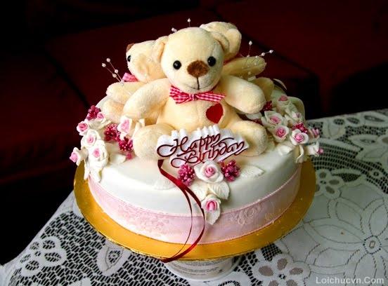 Bánh sinh nhật dễ thương gấu teddy