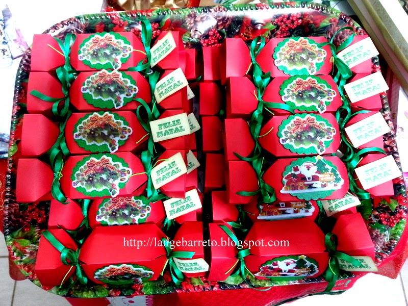 Caixa tema natalino, com trufas