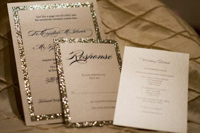glitter wedding - wesele w złocie zaproszenia