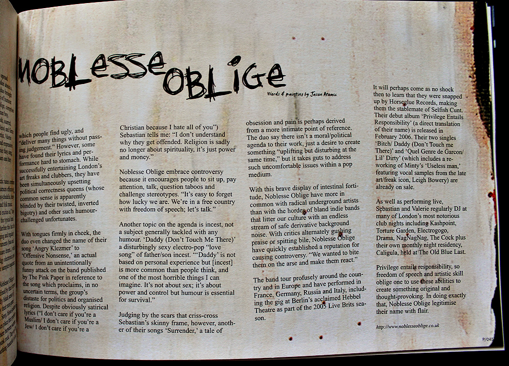noblesse oblige essay