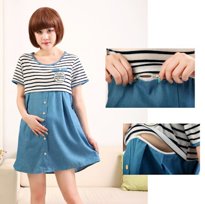 Model Baju Menyusui Korea dengan Zipper