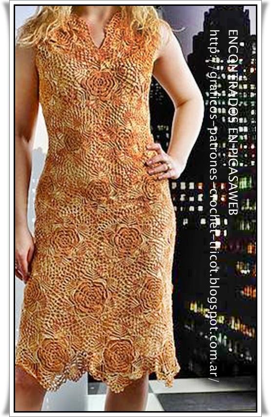 crochet fabric , CROCHET - GANCHILLO - PATRONES - GRAFICOS: VESTIDOS ...