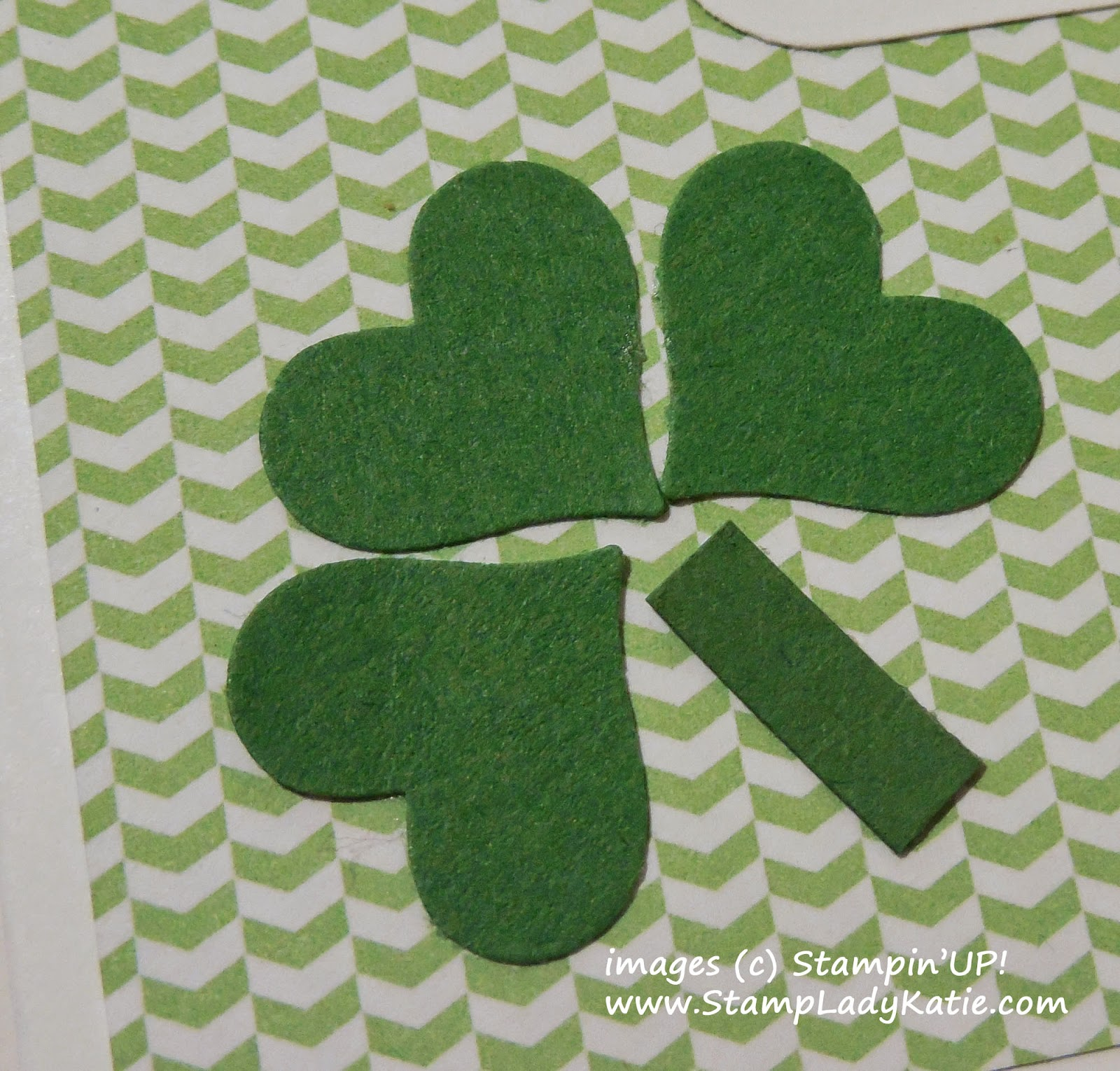 The Shamrock for the St. Patrick's Day Card