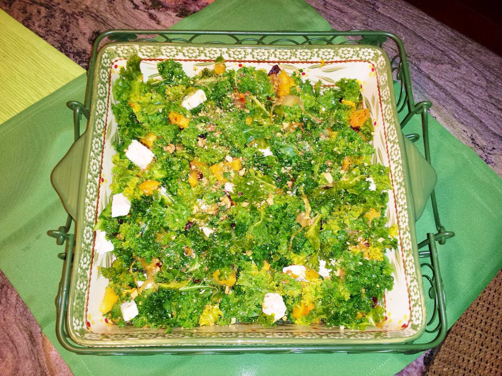 Pumpkin's Tales: Curly Kale Salad with Roasted Butternut ...