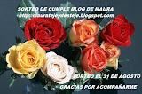 Cumple del blog de Maura