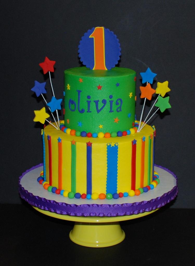 The Bakery Next Door Bright Fun Birthday Cake