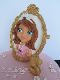 mirror sofia princess disney cake birthday