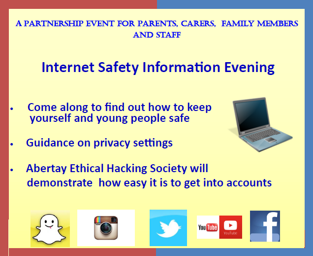 Internet Safety Briefing for Parents and Carers in Dundee - Event Programme