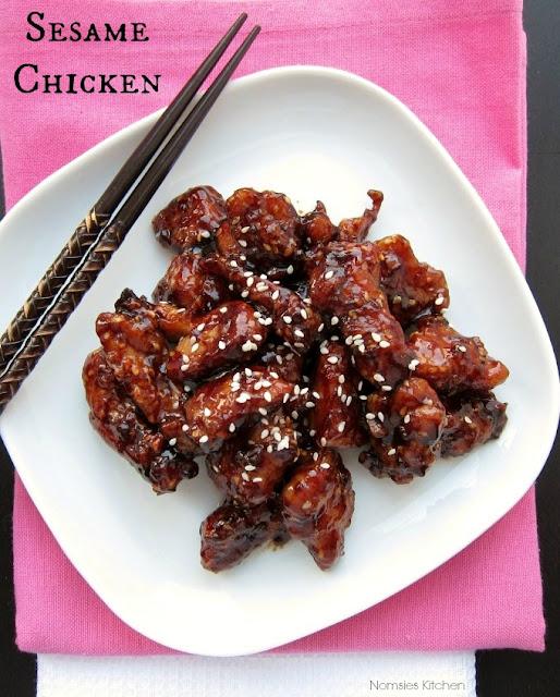 Sesame Chicken Recipe from Nomsies Kitchen