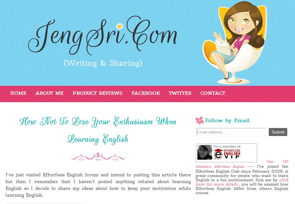 Jeng Sri Personal Blog Template Design   Ipietoon-Cute Blog Design