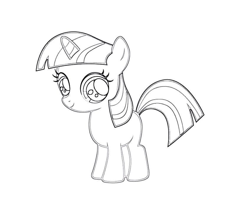 #4 Twilight Sparkle Coloring Page