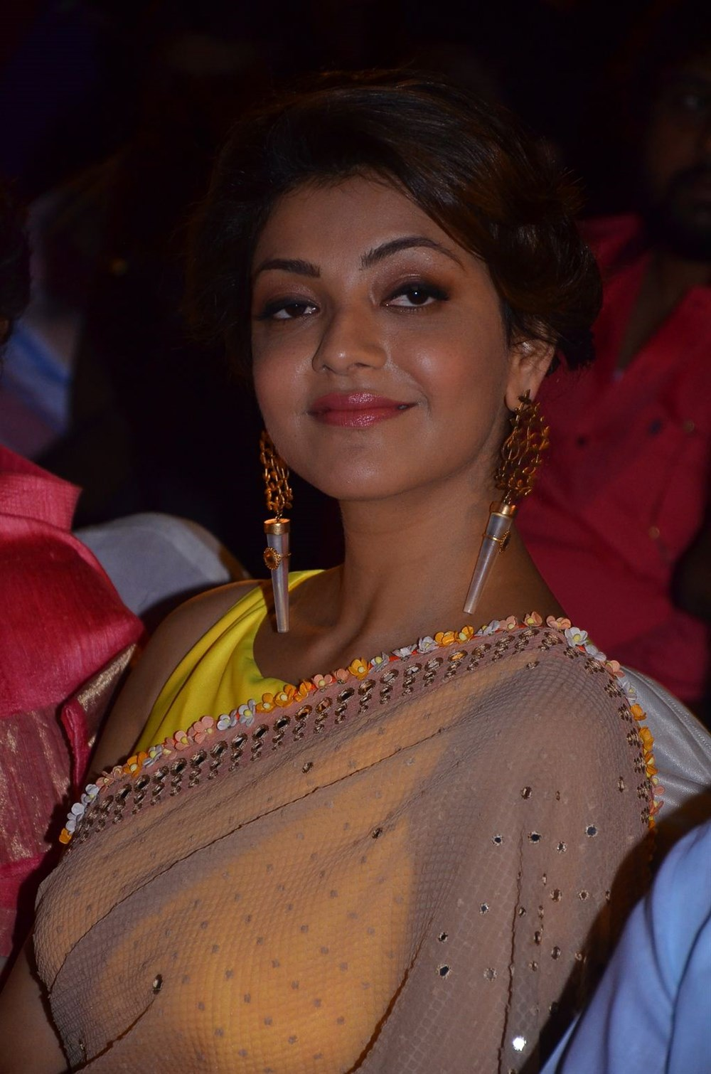 Kajal Aggarwal Latest Photos In Yellow Saree