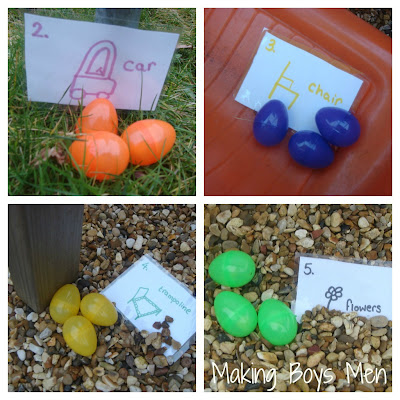 Easter egg hunt with clues