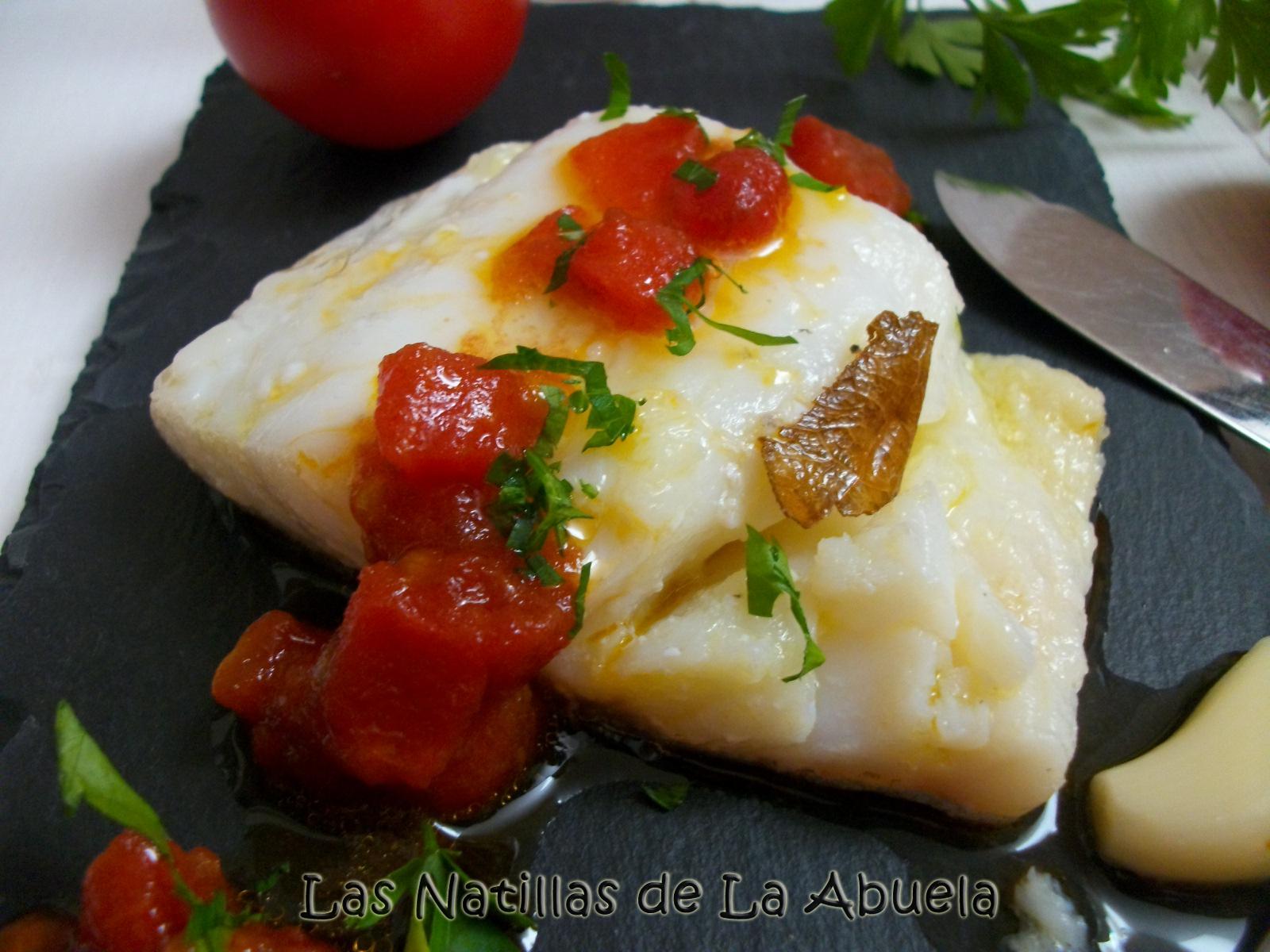Cocinar Bacalao Con Tomate | Las Natillas De La Abuela Bacalao Confitado Con Vinagreta De