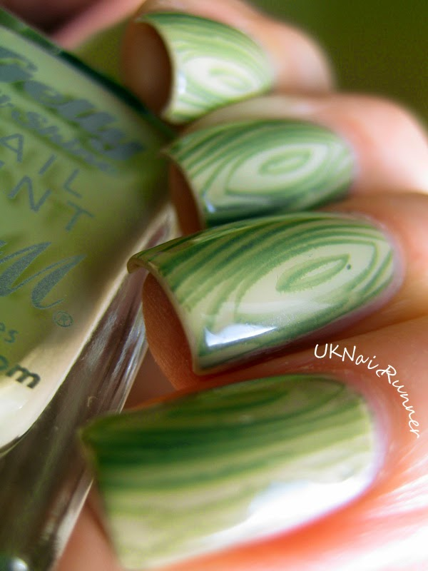 Barry M Olive with Essie Sew Psyched