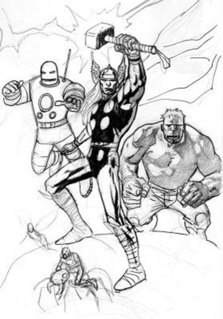 Avengers Christmas Coloring Pages : Printable avengers coloring pages gt disney