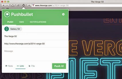 Pushbullet for Safari