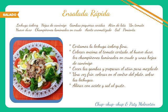 receta de ensalada rapida