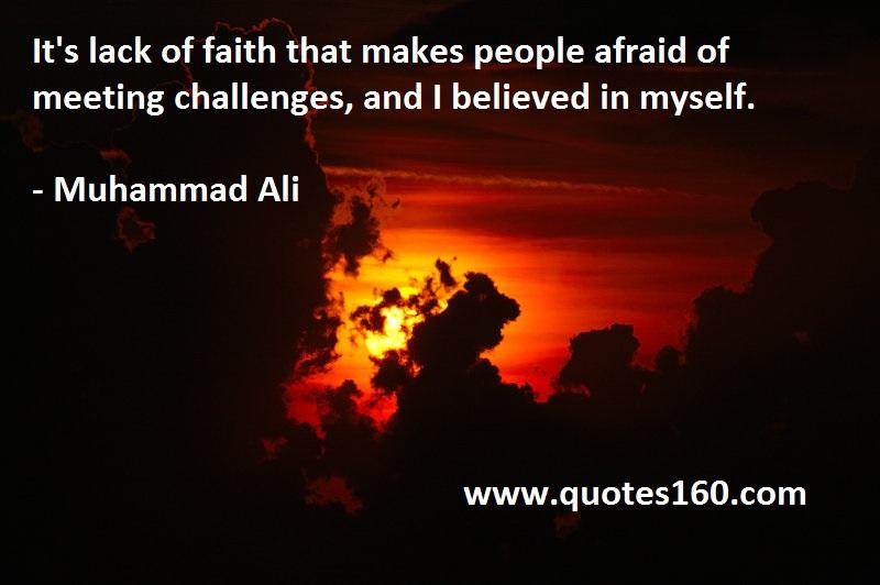 Muhammad Ali Quotes Believe