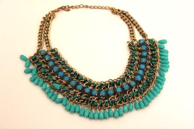 Zara Blogger Turquoise Necklace
