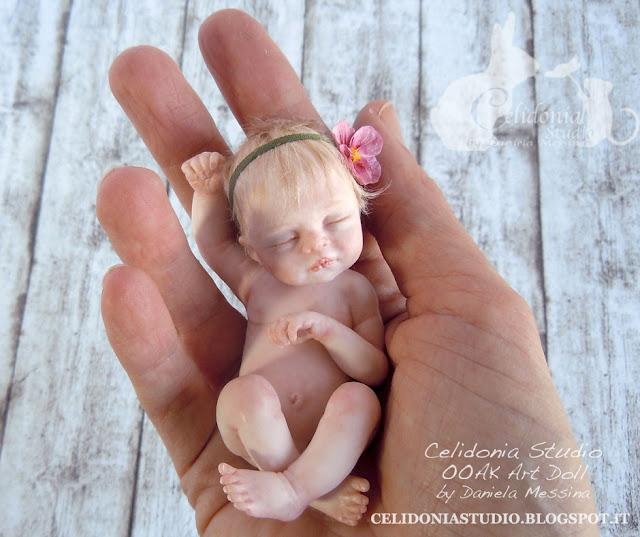 Baby ooak modellato in pasta sintetica - by Celidonia - Daniela Messina