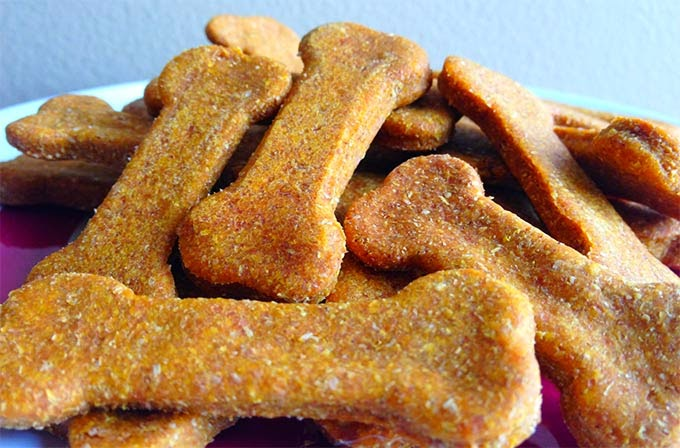 Biscoito de abóbora para cães