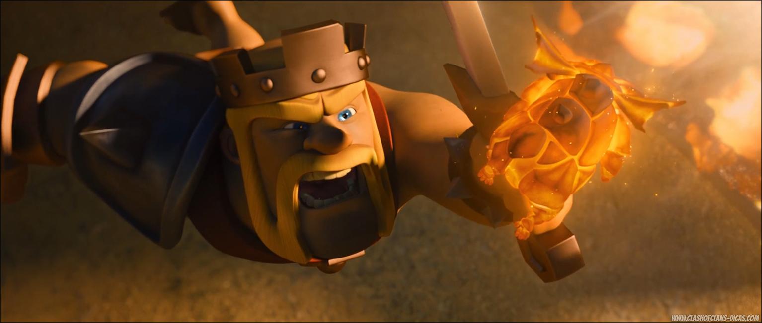 novo comercial de clash of clans a lenda do último lava pup clash