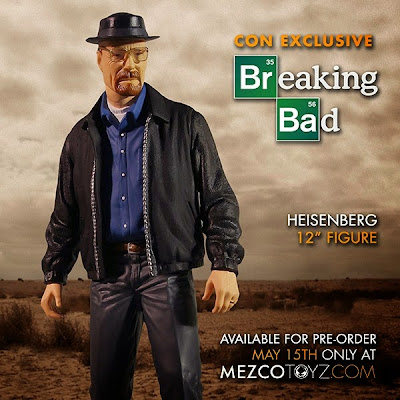 "San Diego Comic-Con 2015 Exclusive Breaking Bad Variant Heisenberg 12"" Action Figure by Mezco Toyz"